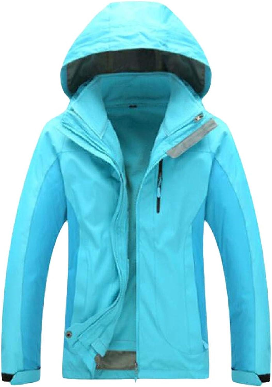 XiaoTianXinWomen XTX Womens Hoody Contrast color Windproof Fleece Waterproof 2 Piece Raincoats Jacket