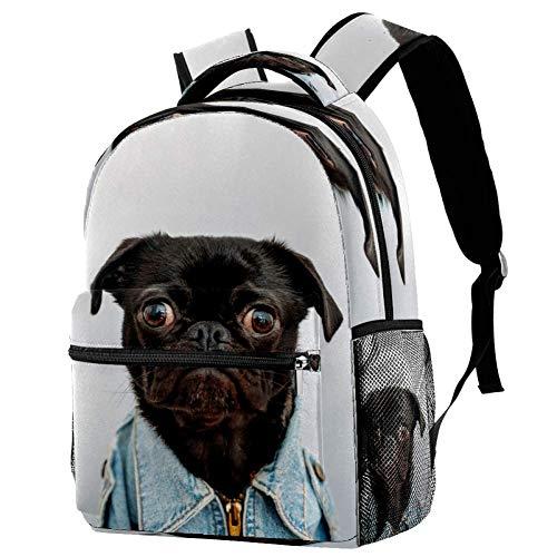 Zainetto bianco e nero lucertole zaino scuola libro borsa casual Daypack per i viaggi, Motivo 6, Taglia unica, Zaino Casual