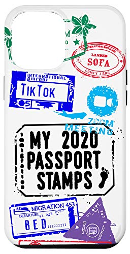 iPhone 12 Pro Max 2020 Passport Stamps for Travelers at Home Case