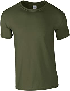 تي شيرت Gildan Softstyle Ringspun للرجال - X-Large - أخضر عسكري