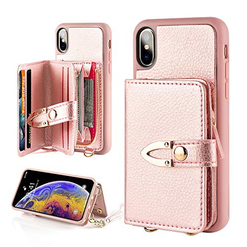 with Card Holder /&Crossbody Chain Strap/& Wristlet Strap for Women Men Any Teens Compatible with iPhone 12 Pro Max-Black 6.7 inch LAMEEKU Crossbody Zipper Wallet Case for iPhone 12 Pro Max 5G