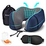 Travel Pillow, Memory Foam Neck Pillow,Flight Pillows Travel Kit Compact and Comfortable Portable