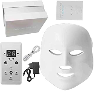 Light Therapy Mask LED 7 Colors Light Treatment Facial Beauty Phototherapy for Wrinkle Acne Removal Rejuvenation Face Skin Care