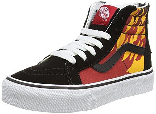 Vans Sk8-hi Zip Scarpe da Ginnastica Alte, Unisex Bambini, Multicolore (flame/black/racing Red), 28 EU