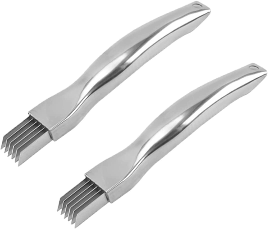 2pcs Kitchen Limited time sale Scallion Cutter Shred sale Steel C Knife Stainless Silk