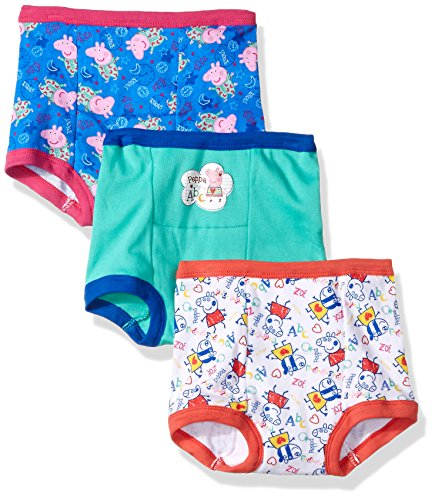 Peppa Pig Toddler Girls' 3pk Training Pant, Assorted Peppa, 2T