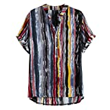 Kanpola Poloshirt Herren Sommer Kurzarm Hemd 3D Gedruckt Hawaiihemd Baumwollhemd Bunte Herrenhemden