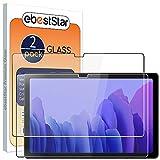 ebestStar - [Lote x2 Cristal Templado Compatible con Samsung Galaxy Tab A7 10.4 T505 (2020) Protector de Pantalla, Película Vidrio Ultrafina, Dureza 9H, Sin-Burbujas [Tab S7: 247.6x157.4x7 mm 10.4']