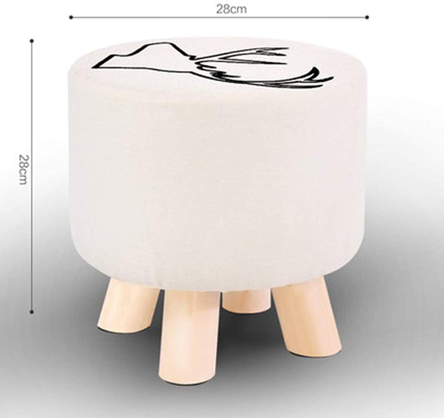 RHHWJJXB Solid Wood shoes Bench Home Wear shoes Bench Round Square Stool Cloth Literary Stool Sofa Bench Coffee Table Bench Living Room Stool (color   E)