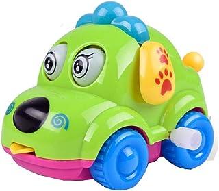 JSPOYOU Clockwork Funny Toy Cartoon Puppy Tongue Clockwork Car Educational Toys