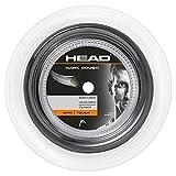 HEAD Unisex-Erwachsene Hawk Rough Rolle 200 Tennis-Saite, Anthracite, 17