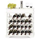 Homfa Casier à Vin Étagère de 24 Bouteilles Étagère à Vin en Bois Porte-bouteilles pour...
