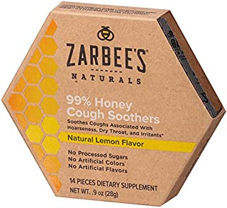Zarbee's Naturals 99% Honey Cough Soothers, Natural Lemon Flavor, 14Count
