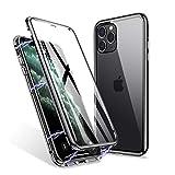 ZHIKE iPhone 11 Pro Max Hülle, Magnetic Adsorption Case Vorder- und Rückseite aus gehärtetem Glas...