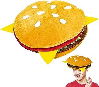 ArtCreativity Funny Hamburger Hat, 1 PC, Fun Fast Food Hamburger Hat, Soft Plush Costume Accessory Hat, Pizza Party Suppli...