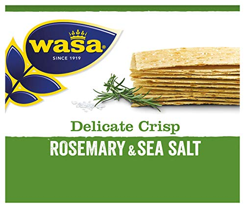 Wasa Knäckebrot Delicate Crisp Rosmarin, 5er Pack (5 x 190 g)