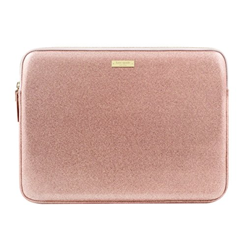 kate spade new york Sleeve for 13' MacBook, 13' Laptop - Rose Gold Glitter