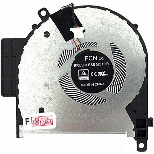 Ventilador de ventilador compatible con HP Envy x360 15m-cp, Envy x360 15m-cn0000, Envy x360 15m-cn, Envy x360 15-cp0800, Envy x360 15-cp0000, Envy x360 15-cp, Envy x360 15-cn