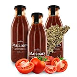 Ursini Salsa Italiana de Tomate con orégano - SIN azúcar - 500 gr (Paquete de 3 Piezas)
