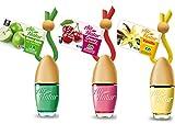 3 Stylisch-modische Air Natur Little Bottle Duftflakons Lufterfrischer Auto- und Raumduft 6ml - 1x Apple - Apfel, 1 x Cherry - Kirsche, 1 x Vanille