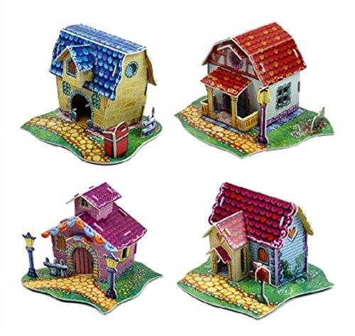 Black Temptation Ensemble de 4 Mignon Petite Maison Modèle Assemblage 3D Puzzles Puzzles