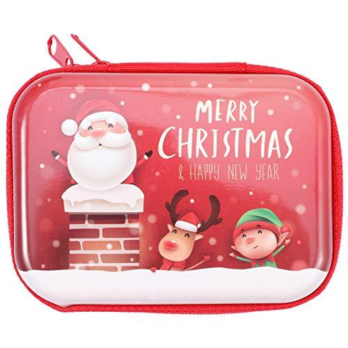 DOITOOL 1 Pc Rectangular Bolsa De Almacenamiento De Navidad Auricular Cambio De Moneda Bolsa De Navidad Colgante Decoraciones De Navidad Adornos De Navidad