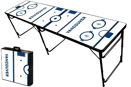 Buy Bargain 8-Foot Professional Beer Pong Table - Vancouver Hockey Rink Graphic