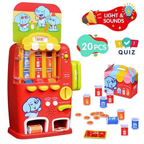 LUKAT Máquina expendedora de Juguetes para niños, Juego de simulación de Compras, Juego de rol, Juguetes de Aprendizaje para niños de 3 4 5 6 7 años, niñas