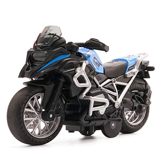 MING YING 66 Pull Back Vehicles - Motorcycle Toy for Christmas 2020,Motorcycle Toys Music and Lighting Children Toy Motorcycle for Toddler (Blue)