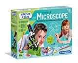 Clementoni 61724 Clementoni-61724-Science and Play-Microscope-Made in Italy-Science Toy-Laboratory and esperiment kit for Kids from 8 Years Old and Older, English