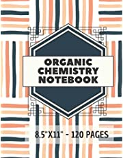 """Organic Chemistry Notebook: 120 pages hexagonal graph paper notebook sized 8.5"""" x 11"""" Inches - For drawing organic chemistry structures, Gaming, Mapping, Graphs, Structuring Sketches"""