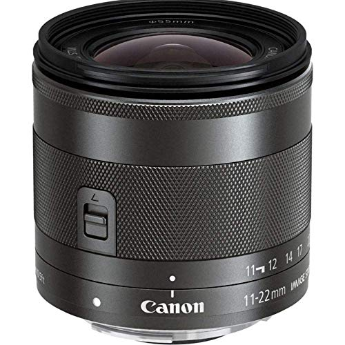 Canon EF-M 11-22mm f/4-5.6 IS STM - Objetivo para Canon (Distancia Focal 18-35mm, Apertura f/4-32, Zoom óptico 2X,estabilizador, diámetro: 55mm) Negro