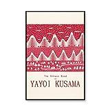 Famoso artista Yayoi Kusama póster de exposición impresiones abstractas y póster cuadros de pared de arte pinturas de lienzo sin marco A2 30x40cm