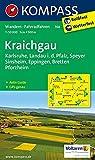 Kraichgau, Karlsruhe, Landau i. d. Pfalz, Speyer, Sinsheim, Eppingen, Bretten, Pforzheim: Wanderkarte mit Aktiv Guide und Radwegen. 1:50000: Wandelkaart 1:50 000 (KOMPASS-Wanderkarten, Band 768)