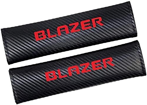 2pcs Fibra De Carbono Almohadillas Para CinturóN De Seguridad para Chevrolet Blazer, Comfort Almohadilla Hombro Accessories, Cuello Almohada