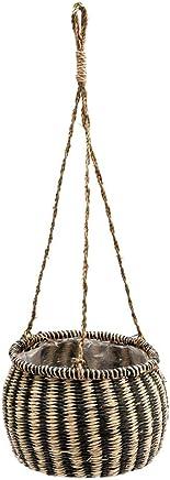 プランターバスケット かご ハンギング シーグラス製 吊るす 収納 ガーデニング インテリア 観葉植物