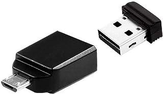 Verbatim 49329 NANO + OTG Adapter Memoria USB portatile, Nero