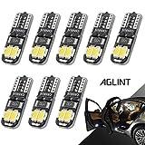 AGLINT T10 LED Ampoules CANBUS W5W 501 194 168 Voiture Intérieur Plafonnier Coffre Dôme Feux De Plaque D'immatriculation Ampoule 12V 8PCS 6000K Blanc