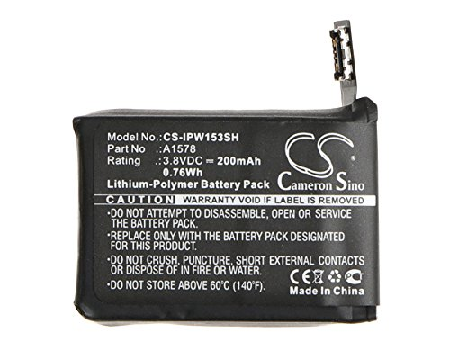 XPS Replacement Battery for Apple Watch APPLEA1553 A1554 MJ2T2LL/A MJ2U2LL/A MJ2V2LL/A PN Apple A1578