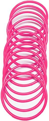 A-Express® Armreif im 1980er-Stil, neonfarbe, aus Gummi, Armband, rosa
