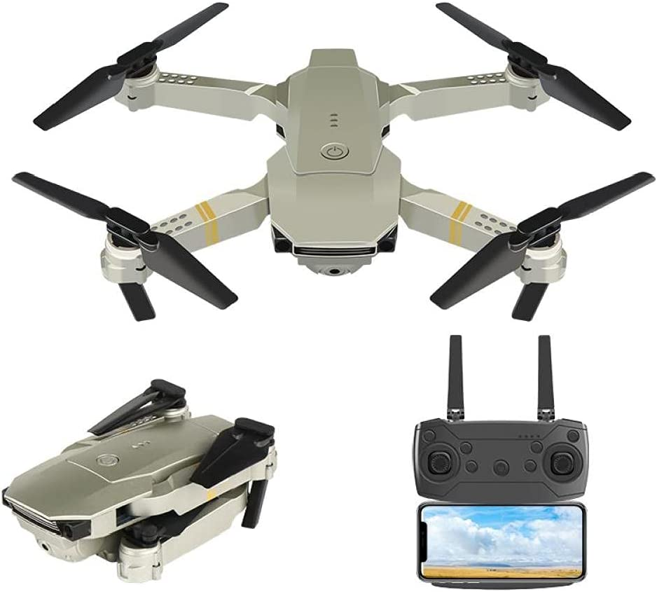 FPV Quadcopter with HD Year-end gift 4K Foldable mart Mini Camera Drone Headle