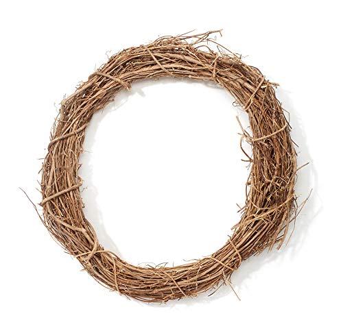 DARICE Natural Grapevine Wreath: 18 inches