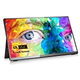 Portable Monitor 4K, ARZOPA Touchscreen 15.6' UHD 3840X2160 IPS HDR Gaming Monitor, 100% sRGB FreeSync Computer Display with HDMI Type-C OTG 2 Speakers for Xbox PS4 Switch Laptop PC Phone Mac