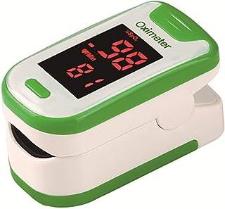 XXF Oxímetro Digital, Pulso del Dedo Oxímetro Digital De Oxígeno Arterial Y El Pulso Sensor Medidor con SPO2 con Lecturas Rápidas Y Pantalla LED para Adultos/Niños/De Deportes,Verde