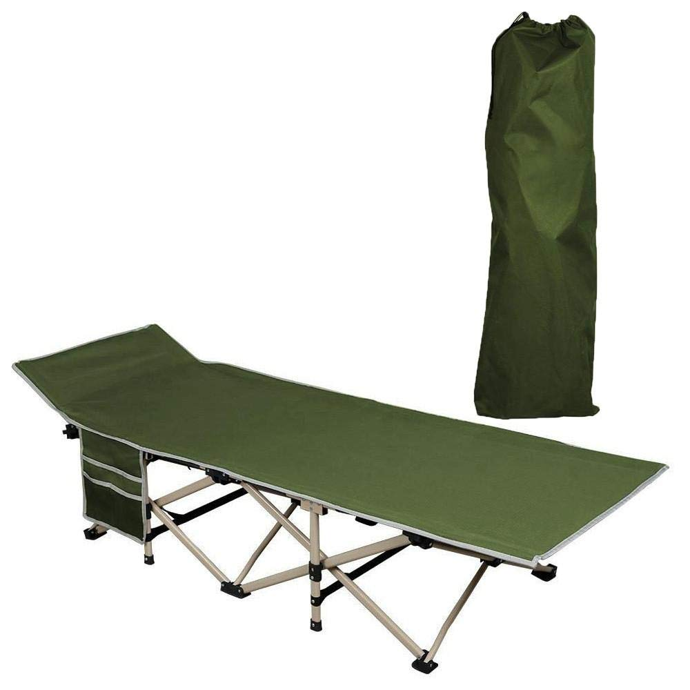 - Yaheetech Portable Folding Camp Bed Camping Travel Cot Bed, 186 X