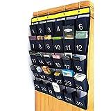 ckground Organizer pensili di Grandi Dimensioni da 30 Tasche per telefoni cellulari, con classifiche tascabili per Classi numerate