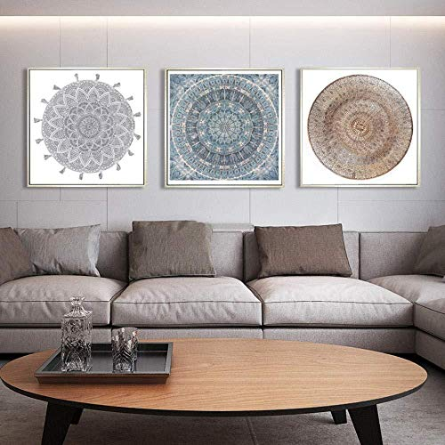RomantiassLu Marokkanische Leinwand Malerei Kunstwerk Poster Wandkunst Bild Für Wohnzimmer Moderne Abstrakte Wohnkulturkein Rahmen