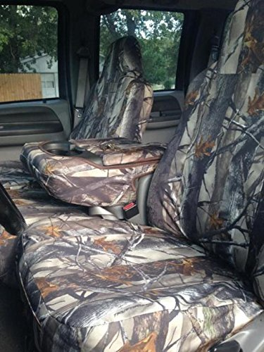 Durafit Seat Covers, FD77 XD3-C, 2002-2007 Ford F250-F550 Front and Back Car Seat Covers in XD3 Camo Endura Fabric.