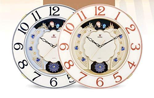 Style européen Horloge Swing Créatif Horloge Murale Personnalité De La Mode Montre Murale Tranquille Salon Horloge À Quartz Horloge Ménage (Couleur : NOIR)