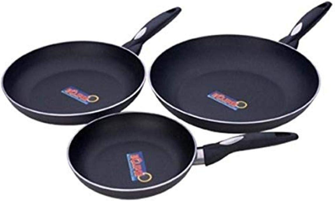 MIU France 3-Piece Aluminum Fry Pan Set, Black